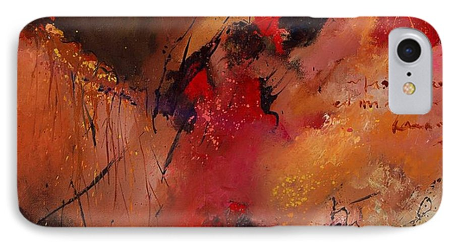 Abstract IPhone 7 Case featuring the painting Abstract 0408 by Pol Ledent
