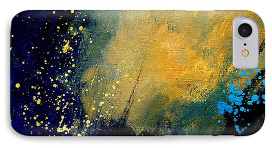 Abstract IPhone 7 Case featuring the painting Abstract 061 by Pol Ledent