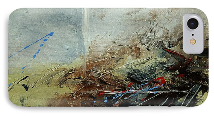 Abstract IPhone 7 Case featuring the print Abstract 070408 by Pol Ledent