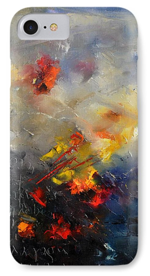 Abstract IPhone 7 Case featuring the painting Abstract 0805 by Pol Ledent