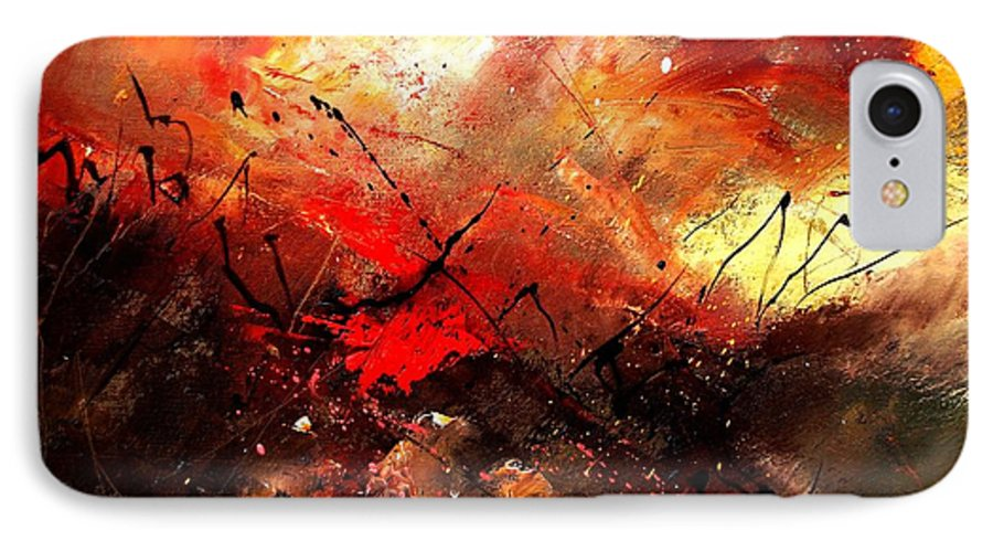 Abstract IPhone 7 Case featuring the painting Abstract 100202 by Pol Ledent