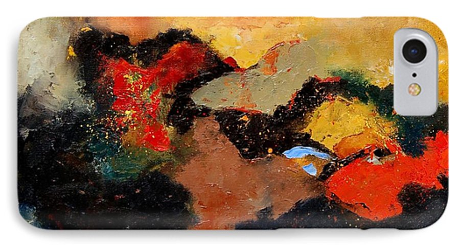 Abstract IPhone 7 Case featuring the painting Abstract 8080 by Pol Ledent