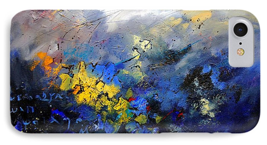 Abstract IPhone 7 Case featuring the painting Abstract 970208 by Pol Ledent