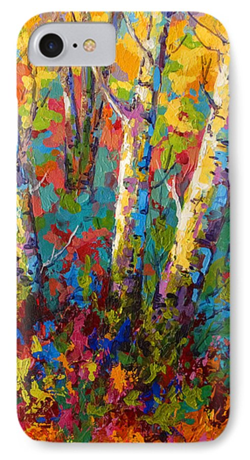 Trees IPhone 7 Case featuring the painting Abstract Autumn II by Marion Rose