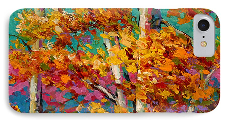 Trees IPhone 7 Case featuring the painting Abstract Autumn IIi by Marion Rose
