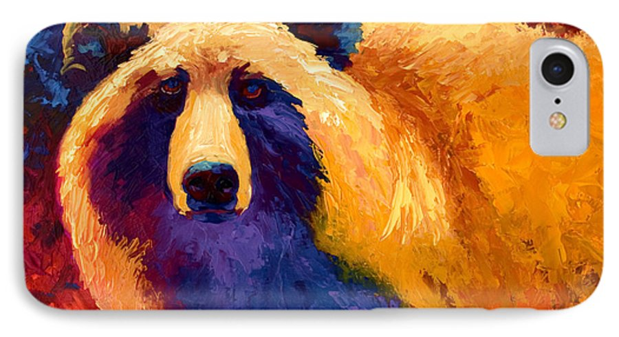 Western IPhone 7 Case featuring the painting Abstract Grizz II by Marion Rose