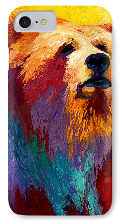 Western IPhone 7 Case featuring the painting Abstract Grizz by Marion Rose