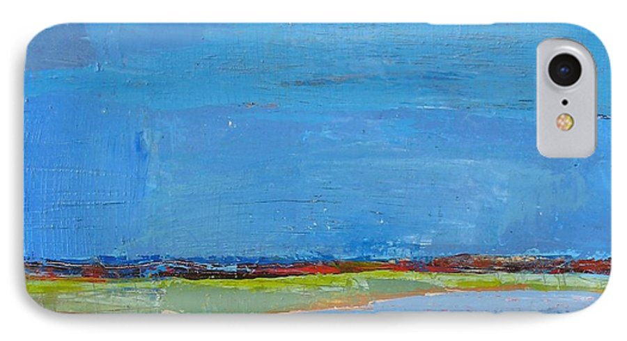 IPhone 7 Case featuring the painting Abstract Landscape1 by Habib Ayat