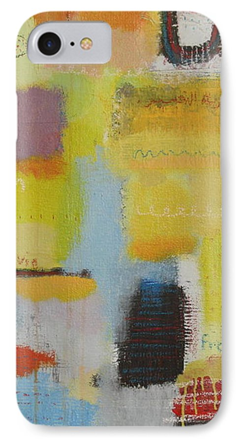 Abstract IPhone 7 Case featuring the painting Abstract Life 3 by Habib Ayat