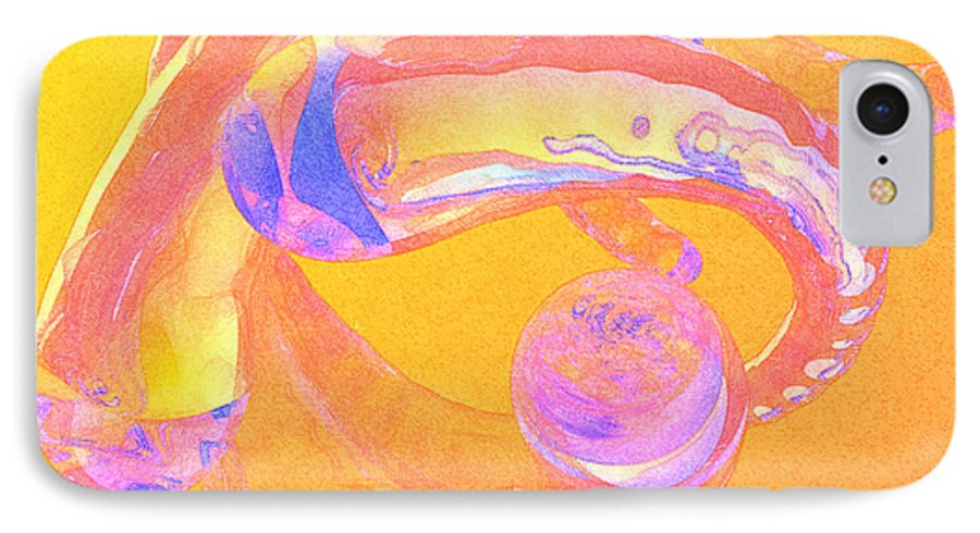 Glass IPhone 7 Case featuring the painting Abstract Number 2 by Peter J Sucy