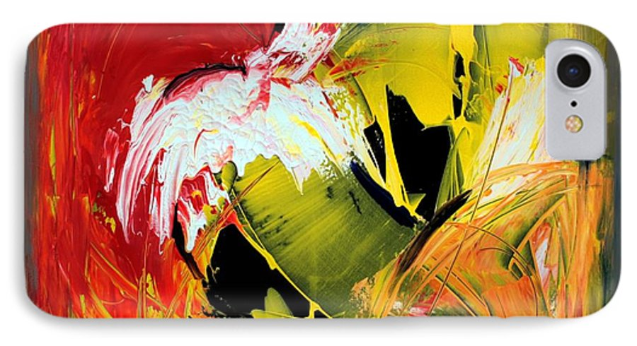 Abstarct IPhone 7 Case featuring the painting Abstract Painting by Mario Zampedroni