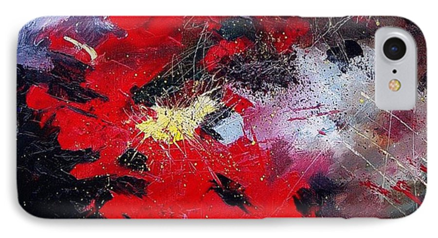 Abstract IPhone 7 Case featuring the painting Abstract070406 by Pol Ledent