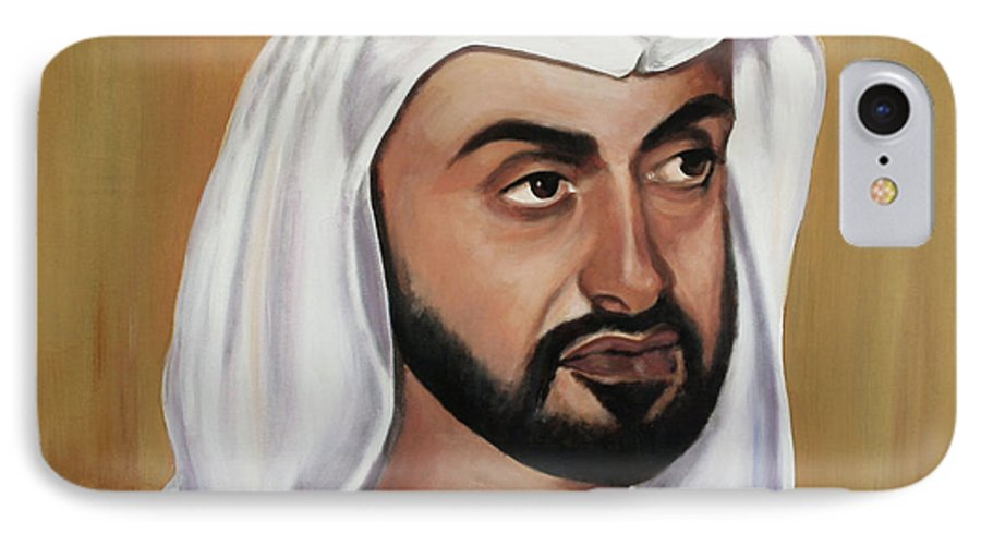 Abu Dhabi IPhone 7 Case featuring the painting Abu Dhabi Crown Prince by Fiona Jack