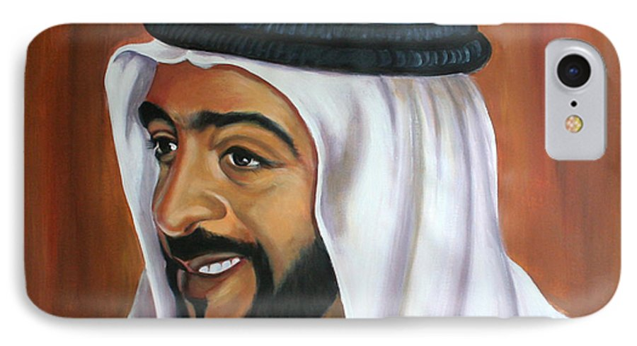 Portrait IPhone 7 Case featuring the painting Abu Dhabi by Fiona Jack