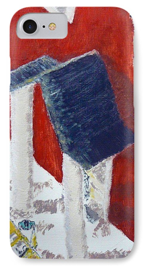 Social Realiism IPhone 7 Case featuring the painting Accessories by R B