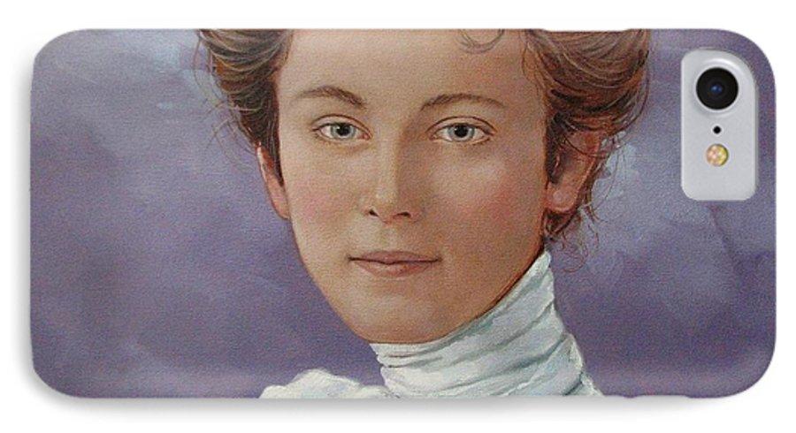 Posthumous Portrait IPhone 7 Case featuring the painting Ada Douglas by Jerrold Carton