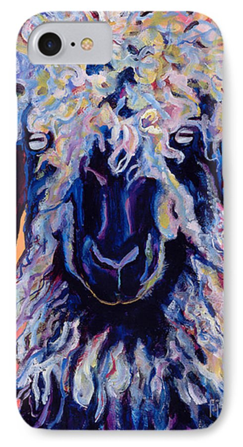 Goat Print IPhone 7 Case featuring the painting Adelita  by Pat Saunders-White