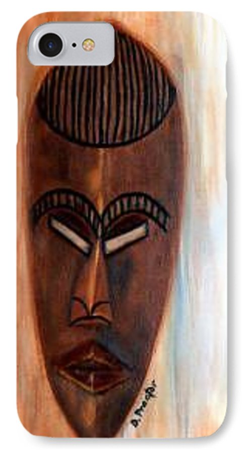 African IPhone 7 Case featuring the painting African Warrior by Donna Proctor