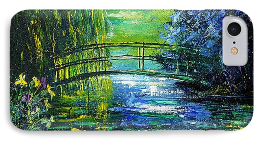 Pond IPhone 7 Case featuring the painting After Monet by Pol Ledent
