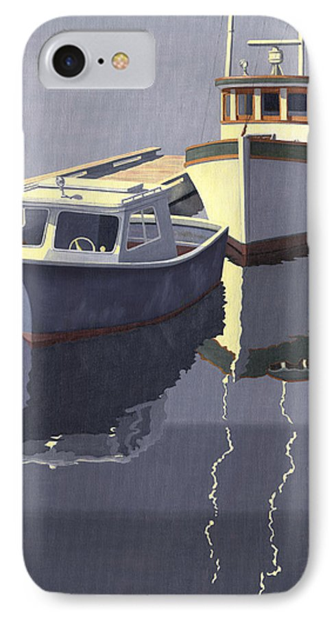 Boat IPhone 7 Case featuring the painting After The Rain by Gary Giacomelli