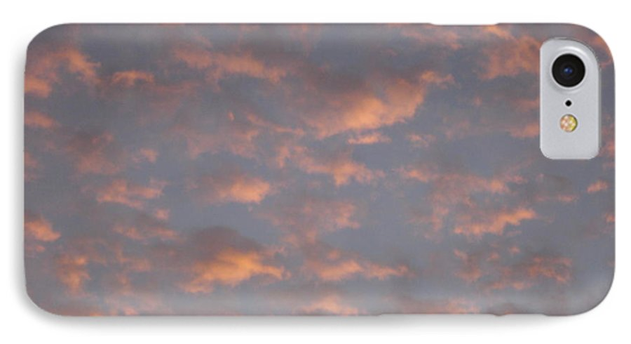 Skyscape IPhone 7 Case featuring the painting Afternoon Sky 11 by Roger Cummiskey