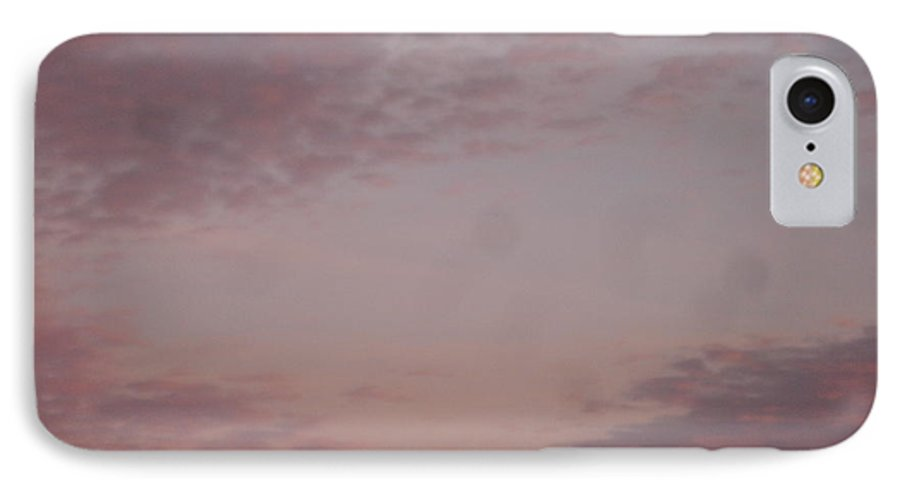 Skyscape IPhone 7 Case featuring the painting Afternoon Sky by Roger Cummiskey