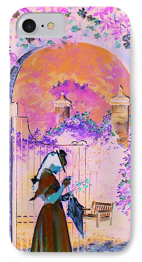 Rose IPhone 7 Case featuring the painting Afternoon Stroll by Jean Hildebrant