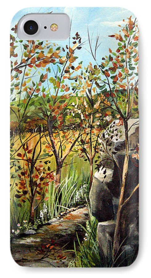 IPhone 7 Case featuring the painting Afternoon Stroll by Ruth Palmer