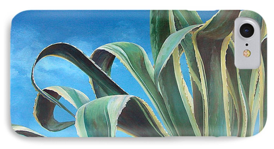 Floral Painting IPhone 7 Case featuring the painting Agave by Muriel Dolemieux