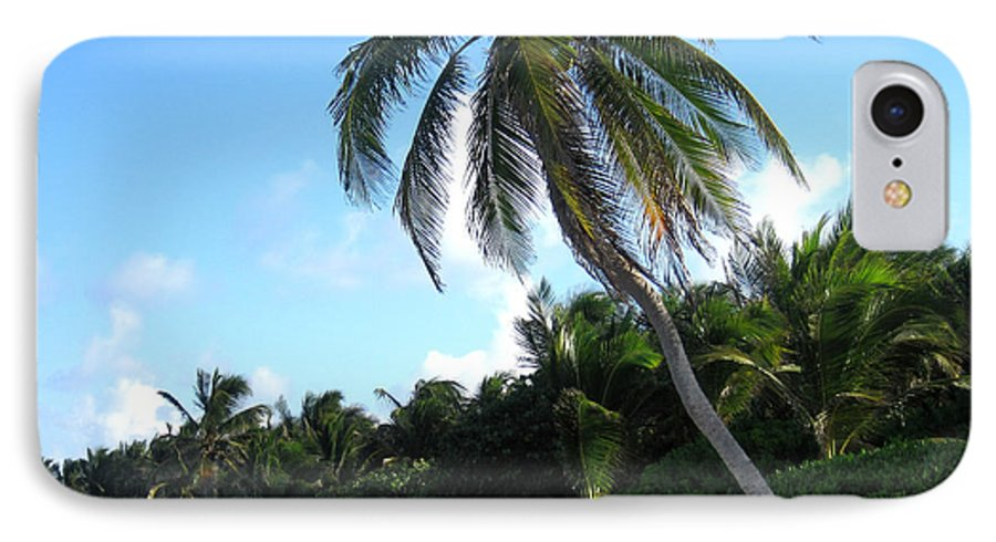 Beach IPhone 7 Case featuring the photograph Akumal Sur Beach 01 by Christopher Spicer