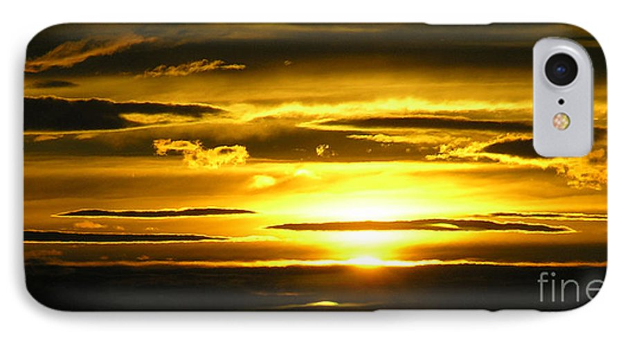 Sunset IPhone 7 Case featuring the photograph Alaskan Sunset by Louise Magno