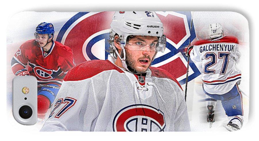 Montreal Canadiens IPhone 7 Case featuring the digital art Alex Galchenyuk Artwork by Nicholas Legault