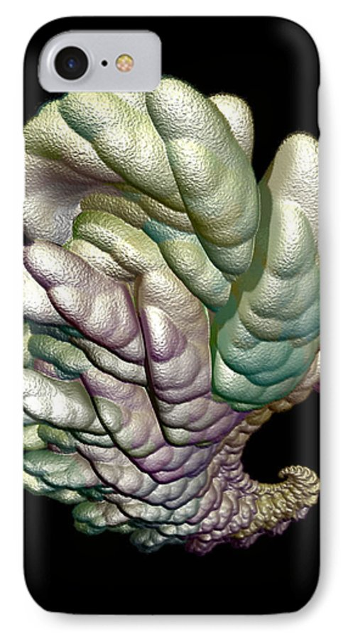 Fractal IPhone 7 Case featuring the digital art Alien Brain by Frederic Durville