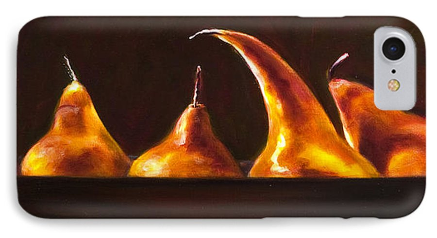 Pears IPhone 7 Case featuring the painting All Aboard by Shannon Grissom