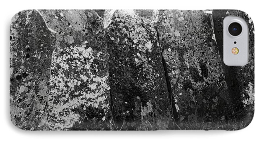 Ireland IPhone 7 Case featuring the photograph All In A Row At Fuerty Cemetery Roscommon Ireland by Teresa Mucha