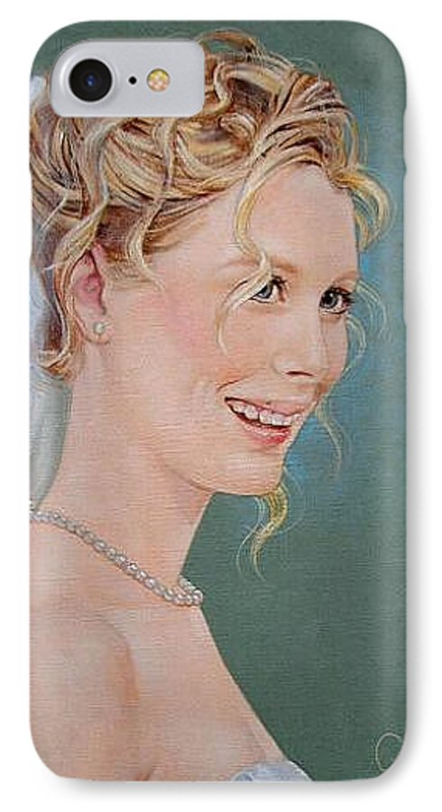 Wedding IPhone 7 Case featuring the painting Allison by Jerrold Carton