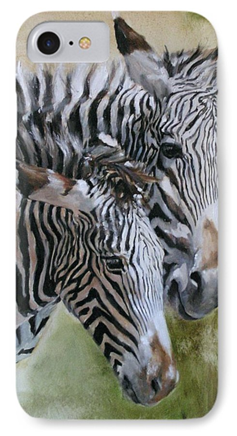 Wildlife Art IPhone 7 Case featuring the painting Almost Grown by Debra Jones