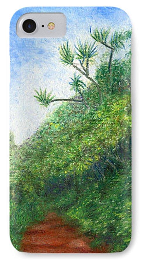 Coastal Decor IPhone 7 Case featuring the painting Along The Trail by Kenneth Grzesik