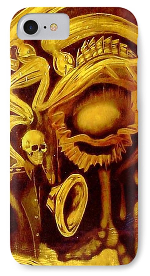 Birth IPhone 7 Case featuring the painting Alpha Omega by Will Le Beouf