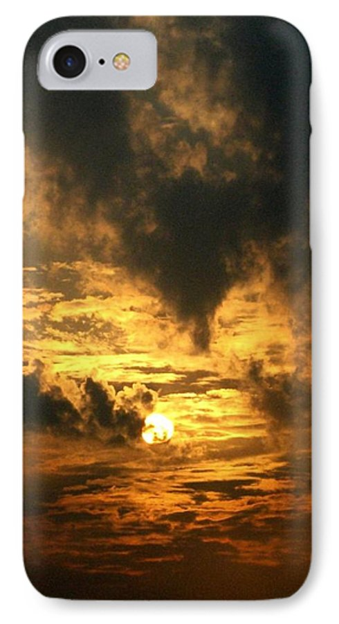 Daybreak IPhone 7 Case featuring the photograph Alter Daybreak by Rhonda Barrett