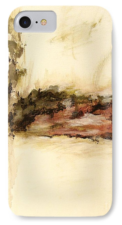 Abstract IPhone 7 Case featuring the painting Ambiguous by Itaya Lightbourne