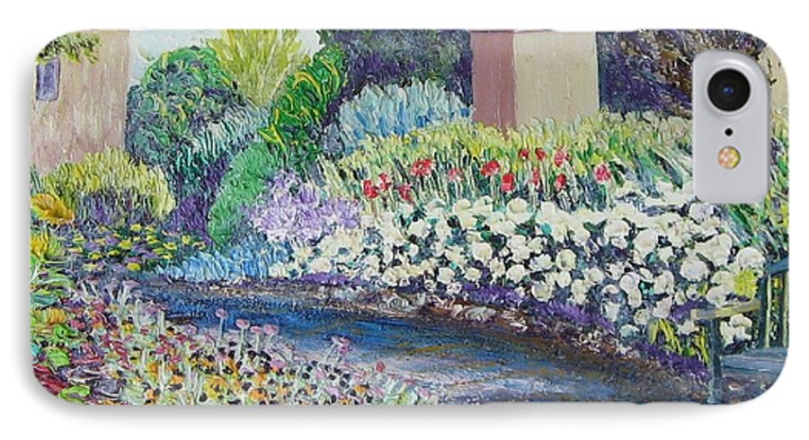 Flowers IPhone 7 Case featuring the painting Amelia Park Pathway by Richard Nowak