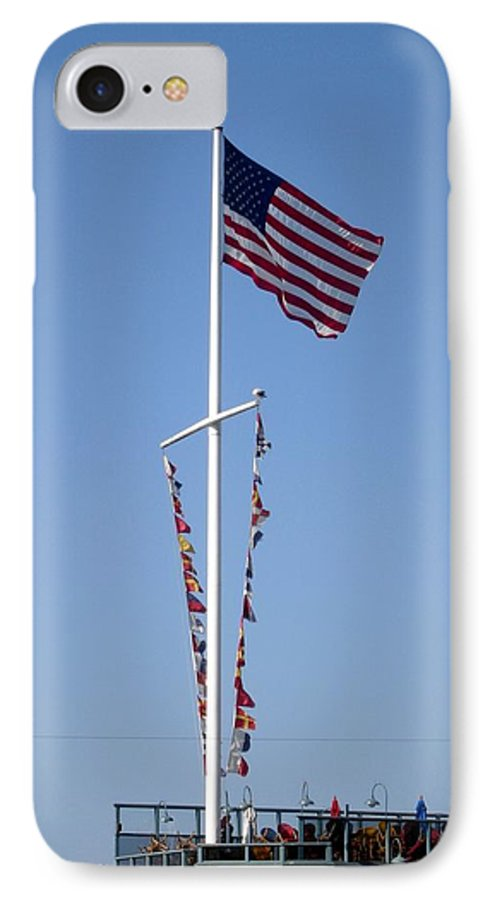 American Flag IPhone 7 Case featuring the photograph American Flag by Shelley Jones