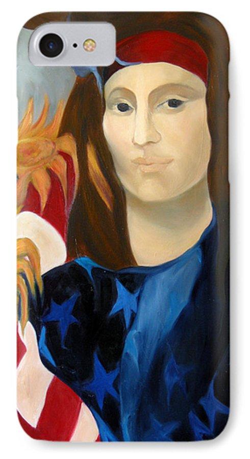 Figurative IPhone 7 Case featuring the painting American Jokonda by Antoaneta Melnikova- Hillman