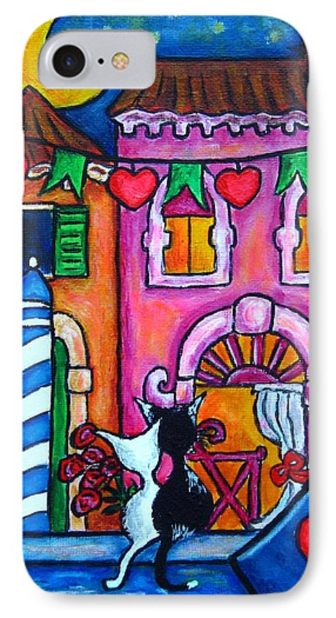 Cats IPhone 7 Case featuring the painting Amore In Venice by Lisa Lorenz