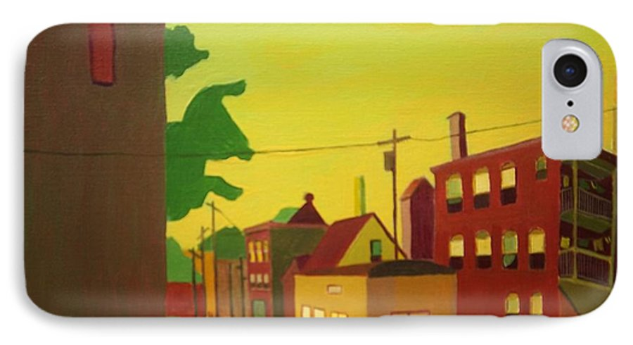Jamaica Plain IPhone 7 Case featuring the painting Amory Street Jamaica Plain by Debra Bretton Robinson
