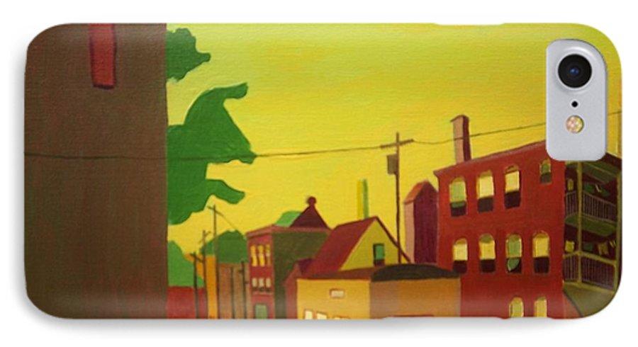 Jamaica Plain IPhone Case featuring the painting Amory Street Jamaica Plain by Debra Bretton Robinson