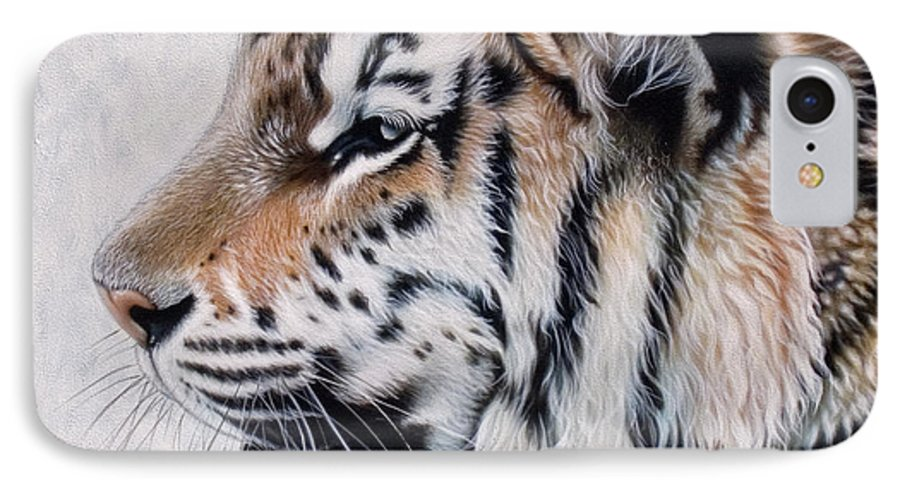 Acrylic IPhone 7 Case featuring the painting Amur by Sandi Baker