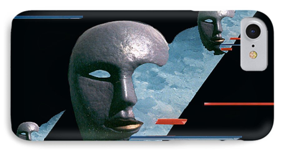Surreal IPhone 7 Case featuring the digital art An Androids Dream by Steve Karol