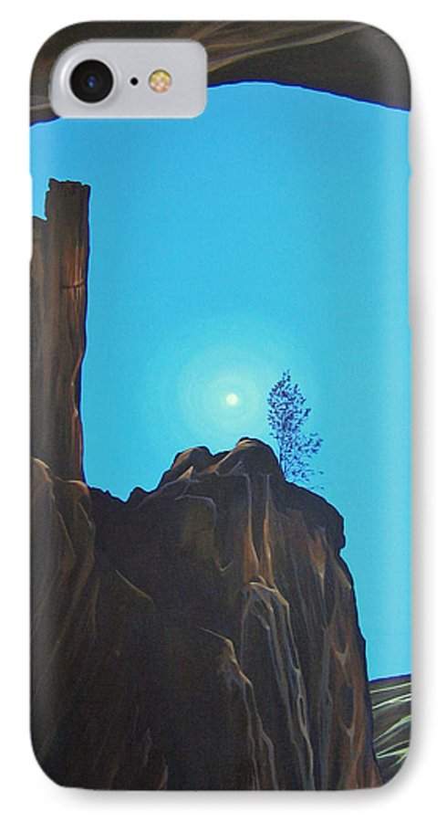 New Mexico IPhone 7 Case featuring the painting Anasazi Dreams by Hunter Jay